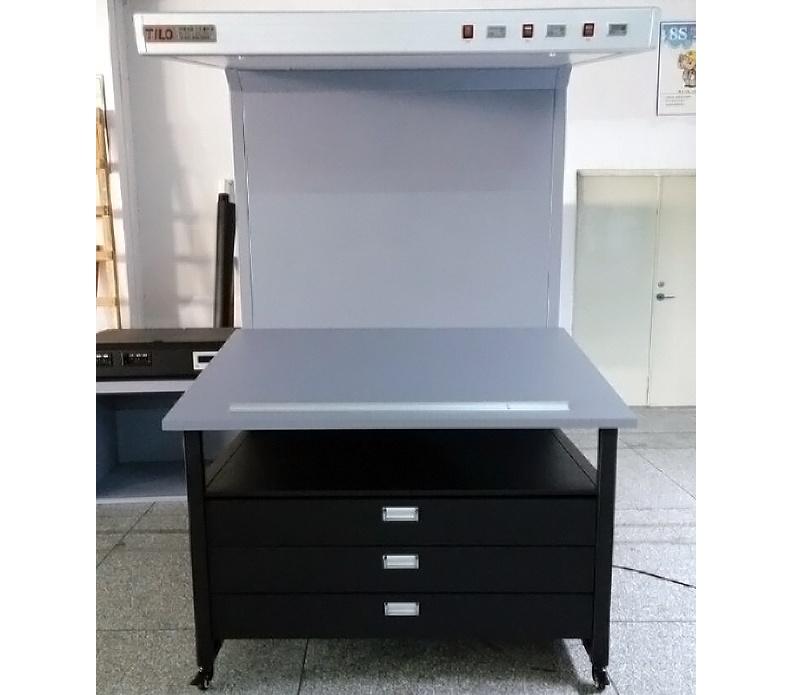 CC120B带抽屉标准看样台印刷对色光源